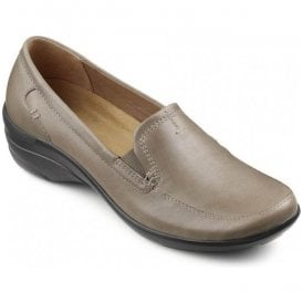 Womens Envy Taupe Slip On Elasticated Shoes