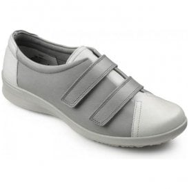 Womens Leap Limestone/Dove Velcro Extra Wide Shoes