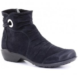 Womens Citytex 121 Black Waxy Ankle Boots