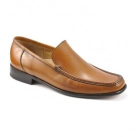 Mens Treviso Tan Leather Moccasin Shoe