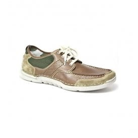Mens Edric 03 Lace Up Shoes Dark Nude & Olive