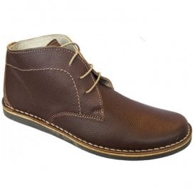 Mens Nomad Brown Leather Desert Boots
