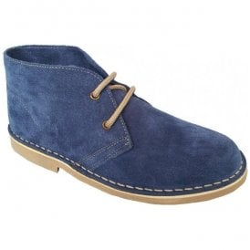 Womens Denim 2 Eyelet Suede Desert Boots L777CS
