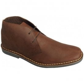 Mens Mod Brown Leather Desert Boots M420GB