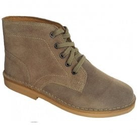 Mens Taupe Suede 5-Eyelet Desert Boots M468TS