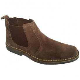 Mens Dark Brown Suede Desert Boots M765DBS