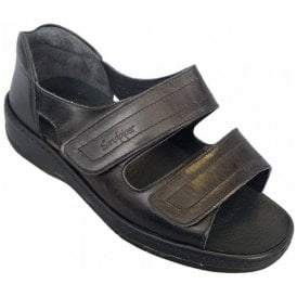 Womens Cheryl Navy Velcro Strap Over Sandals