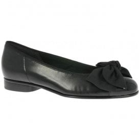 Womens Amy Black Pump Shoes With Bow Detail 05.106.37