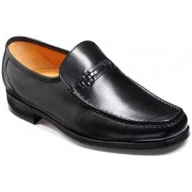 Mens Parker Black Calf Leather Moccasins