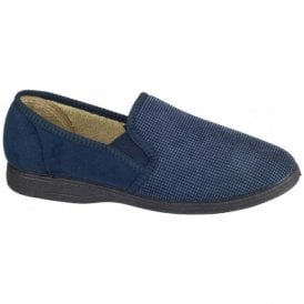 (Fleet & Foster) Mens Tim Navy Slippers