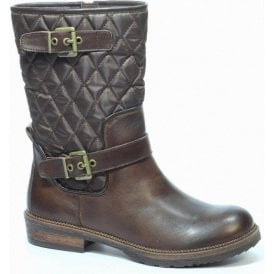 Womens Brown Valeska Leather Boots 9-25401-23