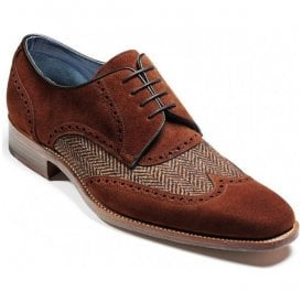 Mens Jackson Polo Brown Suede/Brown Tweed Shoes