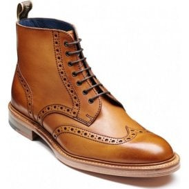 Mens Butcher Cedar Calf Tan Derby Brogue Boots