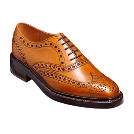 Mens Westfield Cedar Calf Burnished Lace Up Brogue Shoes
