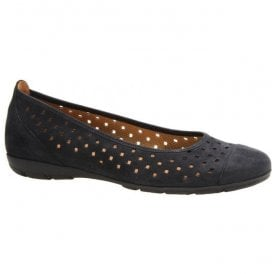 Womens Ruffle Slip On Navy Shoes 64.169.16