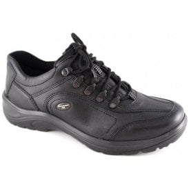 Mens Hayo Black Leather Waterproof Shoes 415901 174 001