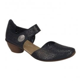 Womens Crease Black Casual Mary Jane Shoes 43711-00