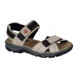 Massa Cream Leather Velcro Sandals 68851-60