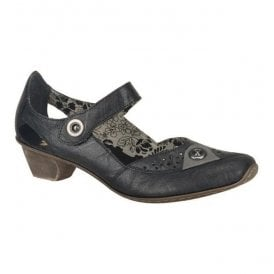 Womens Mirjam Black Leather Mary Jane Shoes 49772-00