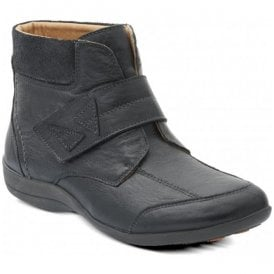 Womens Ivy Black/Combi Velcro Boots
