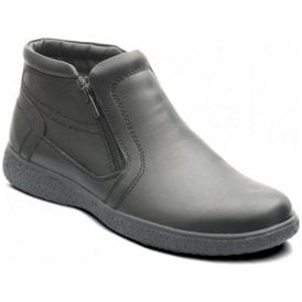 Mens Mick Black Leather Ankle Boots