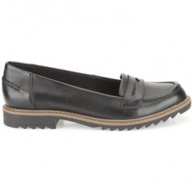Womens Griffin Milly Black Leather Casual Shoes