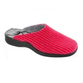 Womens Pink Washable Mule Slippers 7711 46