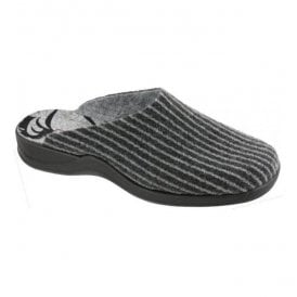 Womens Anthracite Mule Slippers 7711 82