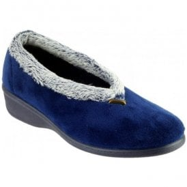 Womens Broadway Navy Slippers