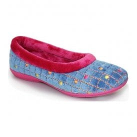 Womens Chess Blue Slippers KLM005BL