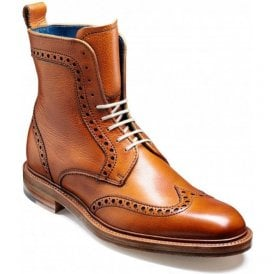 Mens Hockney Cedar Calf Tan Wingtip Brogue Boots