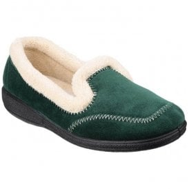 Womens Maier Green Warm Lined Slippers