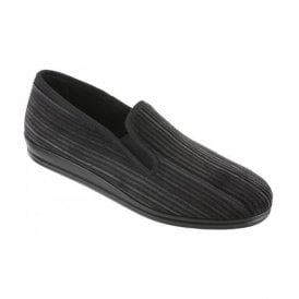 Mens Graphite Casual Twin Gusset Slippers 2606 82