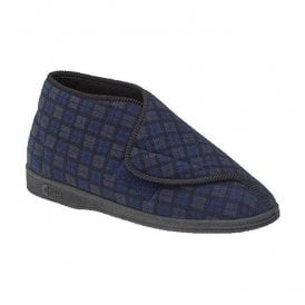 Comfylux Mens James Navy Velcro Slipper