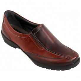 Womens Jessie Cherry/Burgundy Patent E-EE Slip On Shoes