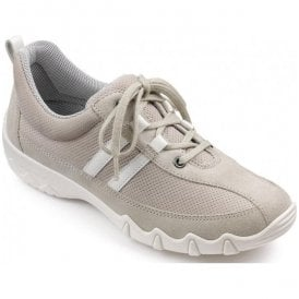 Womens Leanne Grey/Off White Lace Up Shoes