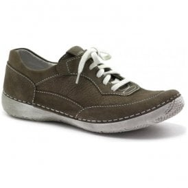 Womens Antje 09 Taupe Lace Up Trainers