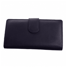 Womens Hayes Black Leather Purse