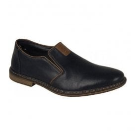 Clarino Black Slip On Shoes 13462-00