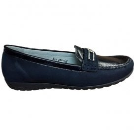 Womens Hesima Dark Blue Loafers 329504 868 194