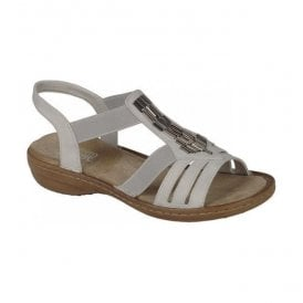 Preston Casual White Slip On Sandals 60800-80