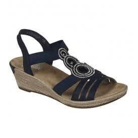 New York Navy Elastic Sandals 62459-14