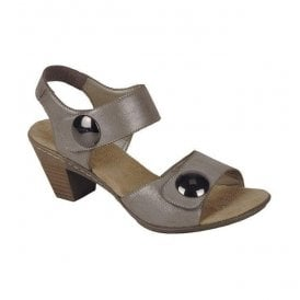 Avarua Grey Strap Over Sandals 67369-42