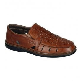 Indiana Brown Slip On Shoes 12389-24