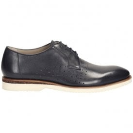 Mens Tulik Edge Navy Leather Formal Shoes