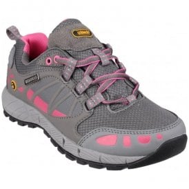 Womens Pitchcombe Grey/Pink Lace-Up Walking Shoes
