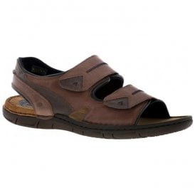 Mens Paul 04 Brandy/Combi Velcro Strap Sandals 43204 946 306