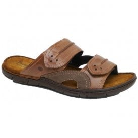 Mens Paul 07 Cafe-Asphalt Velcro Sandals 43207 85 922