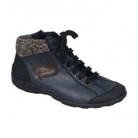 Jura Blue/Black Lace-Up Ankle Boot L6540-06