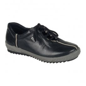 Womens Cristallin Black Lace Up Waterproof Shoes M6110-00